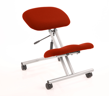 Picture of Office Chair Company Kneeling Stool Silver Frame Bespoke Colour Pimento