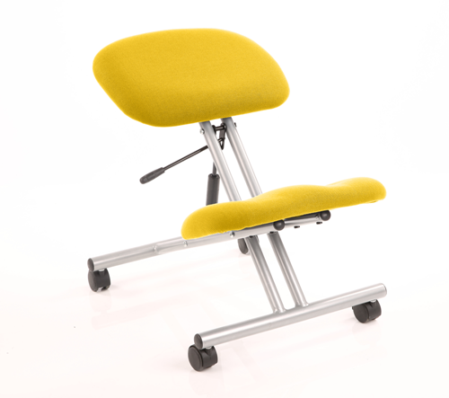 Picture of Office Chair Company Kneeling Stool Silver Frame Bespoke Colour Sunset