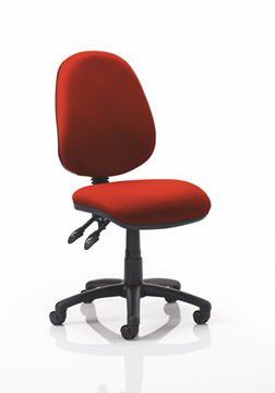 Picture of Office Chair Company Luna II Lever Task Operator Chair Bespoke Colour Pimento