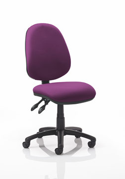 Picture of Office Chair Company Luna II Lever Task Operator Chair Bespoke Colour Purple