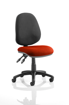 Picture of Office Chair Company Luna II Lever Task Operator Chair Bespoke Colour Seat Chilli