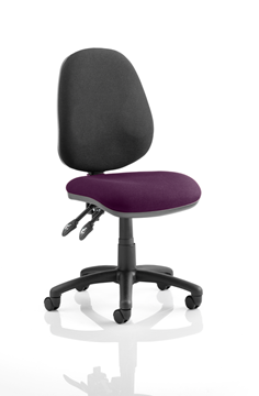 Picture of Office Chair Company Luna II Lever Task Operator Chair Bespoke Colour Seat Purple