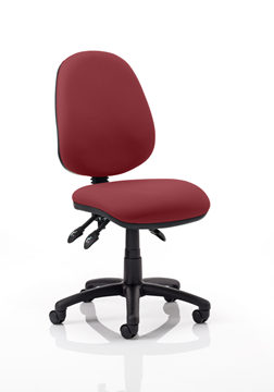 Picture of Office Chair Company Luna III Lever Task Operator Chair Bespoke Colour Chilli