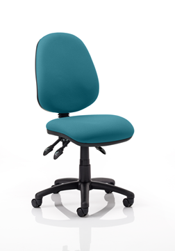 Picture of Office Chair Company Luna III Lever Task Operator Chair Bespoke Colour Kingfisher