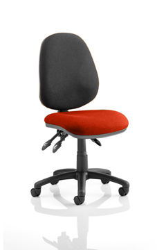 Picture of Office Chair Company Luna III Lever Task Operator Chair Bespoke Colour Seat Pimento