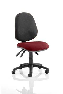 Picture of Office Chair Company Luna III Lever Task Operator Chair Bespoke Colour Seat Chilli