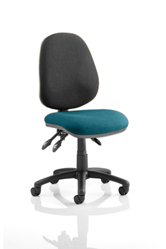 Picture of Office Chair Company Luna III Lever Task Operator Chair Bespoke Colour Seat Kingfisher