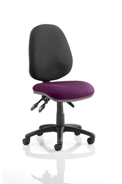 Picture of Office Chair Company Luna III Lever Task Operator Chair Bespoke Colour Seat Purple