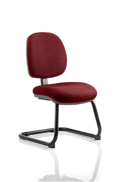 Picture of Office Chair Company Luna Cantilever Bespoke Colour Chilli