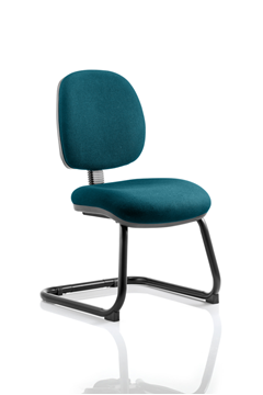Picture of Office Chair Company Luna Cantilever Bespoke Colour Kingfisher