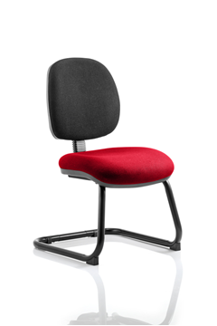 Picture of Office Chair Company Luna Cantilever Bespoke Colour Seat Cherry