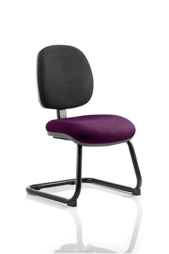 Picture of Office Chair Company Luna Cantilever Bespoke Colour Seat Purple