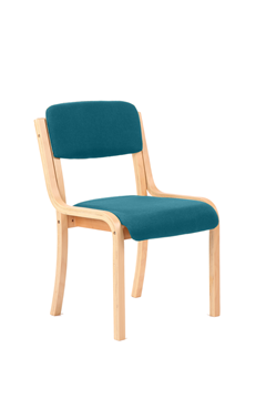 Picture of Office Chair Company Madrid No Arms Bespoke Colour Kingfisher