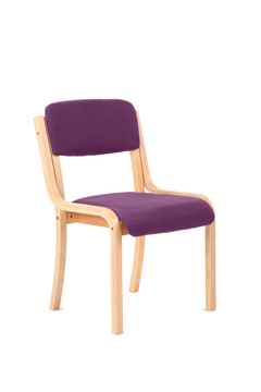 Picture of Office Chair Company Madrid No Arms Bespoke Colour Purple