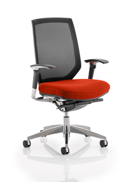 Picture of Office Chair Company Midas Bespoke Colour Seat Pimento