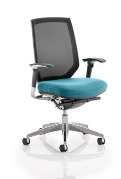 Picture of Office Chair Company Midas Bespoke Colour Seat Kingfisher