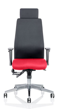 Picture of Office Chair Company Onyx Bespoke Colour Seat With Headrest Cherry