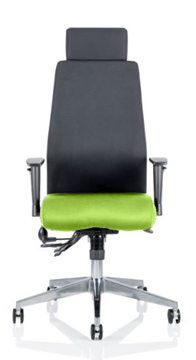 Picture of Office Chair Company Onyx Bespoke Colour Seat With Headrest Swizzle