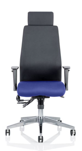 Picture of Office Chair Company Onyx Bespoke Colour Seat With Headrest Serene