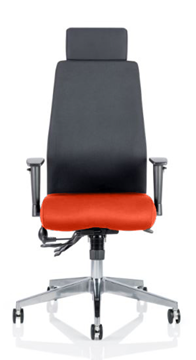 Picture of Office Chair Company Onyx Bespoke Colour Seat With Headrest Pimento