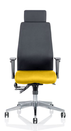 Picture of Office Chair Company Onyx Bespoke Colour Seat With Headrest Sunset