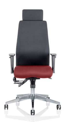 Picture of Office Chair Company Onyx Bespoke Colour Seat With Headrest Chilli