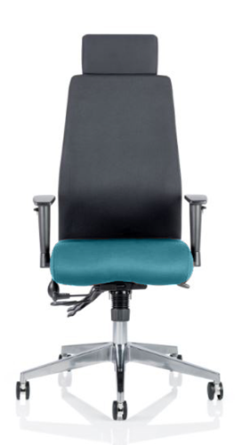 Picture of Office Chair Company Onyx Bespoke Colour Seat With Headrest Kingfisher