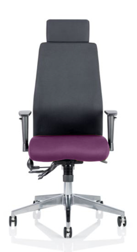 Picture of Office Chair Company Onyx Bespoke Colour Seat With Headrest Purple