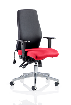 Picture of Office Chair Company Onyx Bespoke Colour Seat Without Headrest Cherry