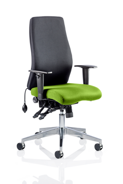 Picture of Office Chair Company Onyx Bespoke Colour Seat Without Headrest Swizzle