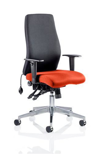 Picture of Office Chair Company Onyx Bespoke Colour Seat Without Headrest Pimento