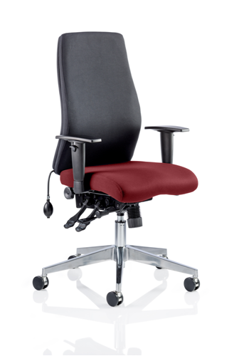 Picture of Office Chair Company Onyx Bespoke Colour Seat Without Headrest Chilli