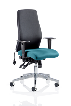 Picture of Office Chair Company Onyx Bespoke Colour Seat Without Headrest Kingfisher