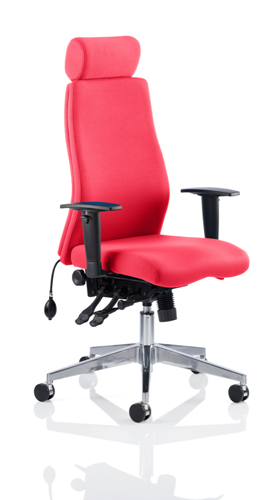 Picture of Office Chair Company Onyx Bespoke Colour With Headrest Cherry