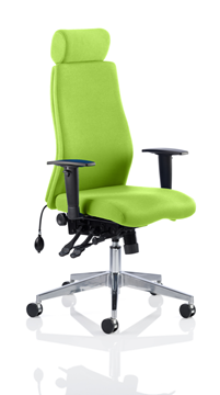 Picture of Office Chair Company Onyx Bespoke Colour With Headrest Swizzle