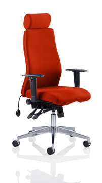Picture of Office Chair Company Onyx Bespoke Colour With Headrest Pimento