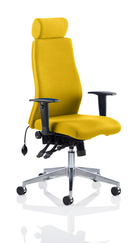 Picture of Office Chair Company Onyx Bespoke Colour With Headrest Sunset