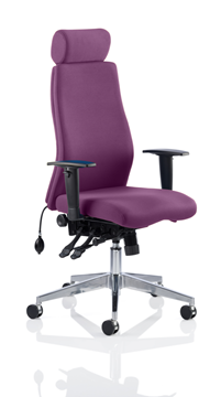 Picture of Office Chair Company Onyx Bespoke Colour With Headrest Purple