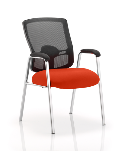 Picture of Office Chair Company Portland Visitor (Straight Leg) Bespoke Colour Seat Pimento