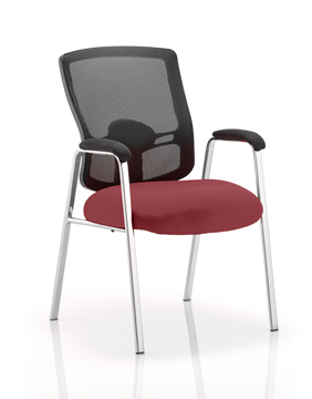 Picture of Office Chair Company Portland Visitor (Straight Leg) Bespoke Colour Seat Chilli