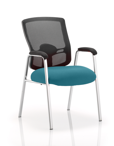 Picture of Office Chair Company Portland Visitor (Straight Leg) Bespoke Colour Seat Kingfisher