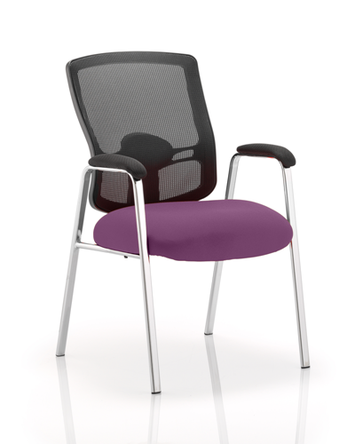 Picture of Office Chair Company Portland Visitor (Straight Leg) Bespoke Colour Seat Purple