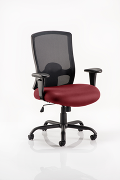 Picture of Office Chair Company Portland Hd Bespoke Colour Seat Chilli