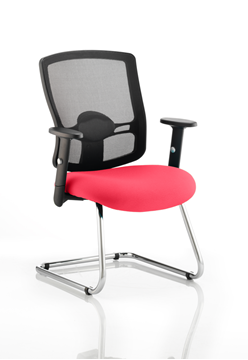 Picture of Office Chair Company Portland Cantilever Bespoke Colour Seat Cherry