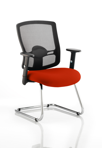 Picture of Office Chair Company Portland Cantilever Bespoke Colour Seat Pimento