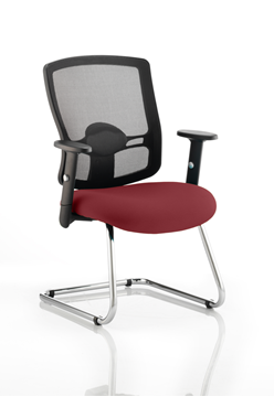 Picture of Office Chair Company Portland Cantilever Bespoke Colour Seat Chilli