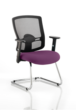 Picture of Office Chair Company Portland Cantilever Bespoke Colour Seat Purple