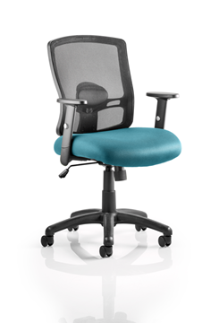 Picture of Office Chair Company Portland Bespoke Colour Seat Kingfisher