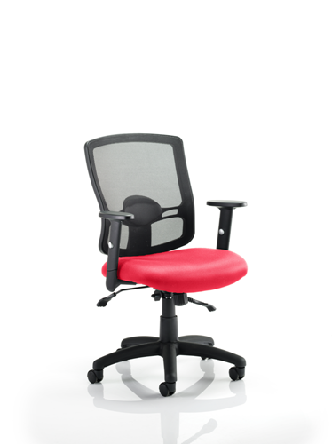 Picture of Office Chair Company Portland II With Bespoke Colour Seat Cherry