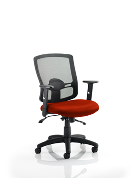 Picture of Office Chair Company Portland II With Bespoke Colour Seat Pimento